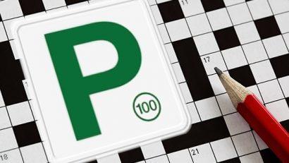 Cryptic Crossword P Plate